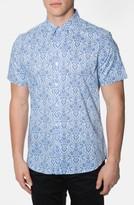 7 Diamonds Men's 'Noble Heart' Trim Fit Print Woven Shirt