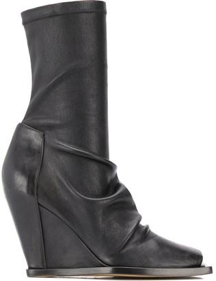Rick Owens 110mm Calf-Length Boots