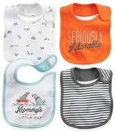 Carter's 100% Cotton, Stylish & Bold Colors Bib with Cute Prints, (4-Pack)