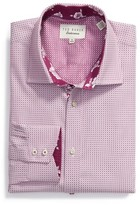 Ted Baker Men's Eager Trim Fit Geometric Dress Shirt