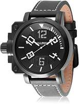 Haurex Italy Men's 6N508UWN Gun Analog Display Quartz Black Watch