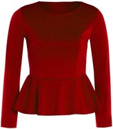 Xclusive Collection New Womens Plus Size Crop Waist Frill Peplum Tops Long Sleeve Skater Tops US20-22