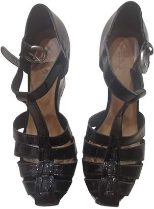 Sonia Rykiel Sonia By Black Patent leather Sandals