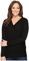 Stetson Plus Size Rayon Jersey Long Sleeve Blouse