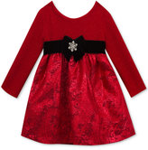 Rare Editions Textured-Knit Brocade Party Dress, Little Girls (4-6X)