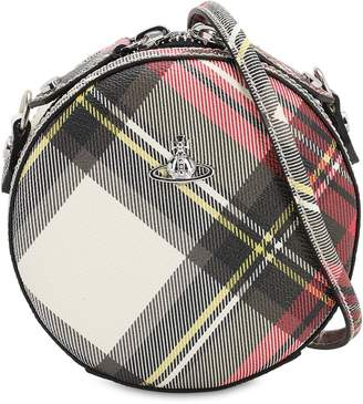 Vivienne Westwood DERBY ROUND COATED CANVAS SHOULDER BAG