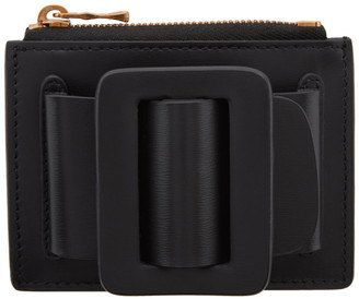 Boyy Black Buckle Card Holder