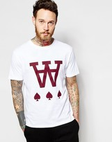 Wood Wood T-shirt With Spades Print In White