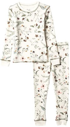P.J. Salvage Kids Glamping Life Floral Thermal Two-Piece Jammie Set (Toddler/Little Kids/Big Kids) (Stone) Girl's Pajama Sets