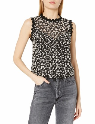 Rebecca Taylor Women's Sleeveless Eyelet Audrey Top