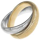 Janis Savitt Large High Polished Gold and Rhodium Double Cobra Bracelet