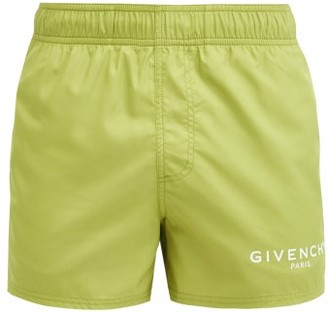 Givenchy Logo-printed Swim Shorts - Khaki