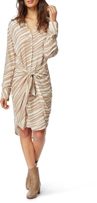 Habitual Talia Tie Front Shirtdress