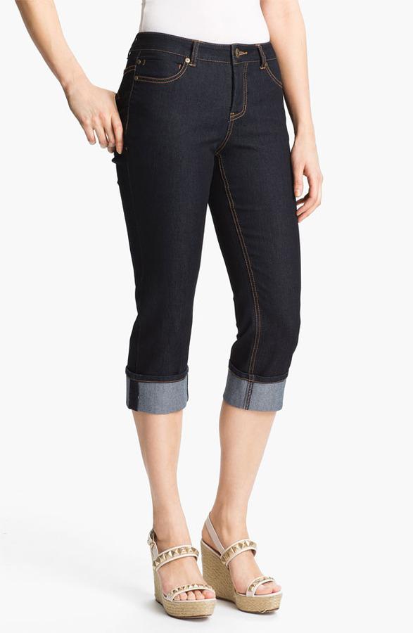 Liverpool Jeans Company 'Michelle' Cuffed Stretch Capri Jeans