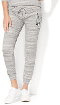 New York & Co. Embroidered Bird Patch Accent Slim Jogger