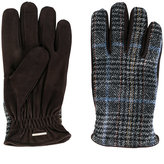 Lardini plaid knitted gloves