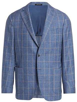 Saks Fifth Avenue COLLECTION Windowpane Check Sport Jacket