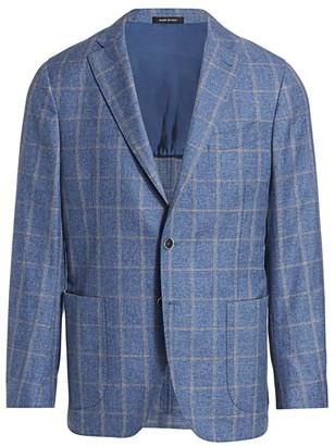 Saks Fifth Avenue Windowpane Check Sport Jacket