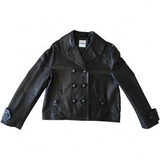 Moschino Cheap & Chic Moschino Cheap And Chic Black Leather Leather Jacket for Women