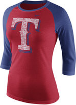 Nike Women's Texas Rangers Tri Raglan T-Shirt