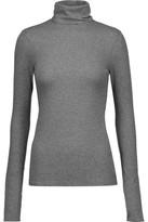 J Brand Centro Ribbed Stretch-Cotton Turtleneck Sweater