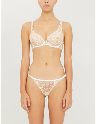 Myla Columbia Road floral-embroidered mesh bra