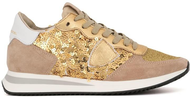 Gold Sequin Heels - ShopStyle