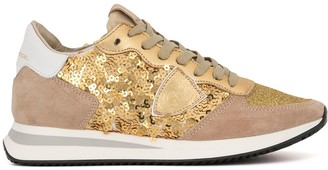 Philippe Model Paris Sequin Embellished Trainers