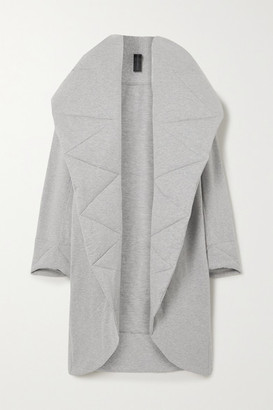 Norma Kamali Oversized Quilted Melange Stretch Cotton-jersey Coat - Gray