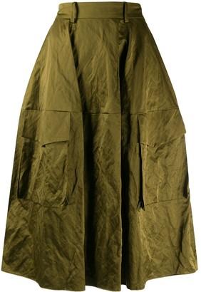 Aspesi Crinkle Effect Skirt