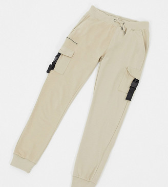 Soul Star Tall co-ord utility cargo pants in tan