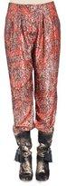 Lanvin Metallic-Print Pajama Pants, Fire Red