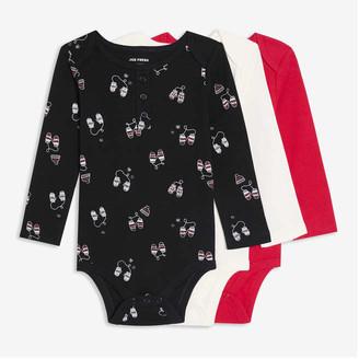 Joe Fresh Baby Boys' 3 Pack Bodysuits, JF Black (Size 12-18)