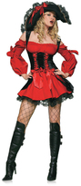 Leg Avenue Red & Black Vixen Pirate Wench Costume