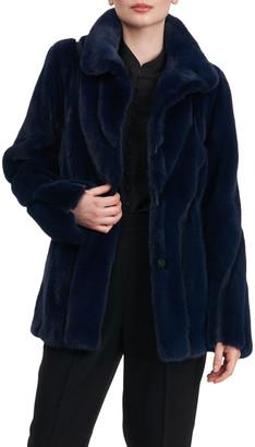 Zac Posen Mink Fur Jacket w/ Suede Inserts