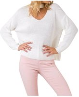 Viottis Women's Choker V-Neck Bandage Stretch Knit Pullover Sweater