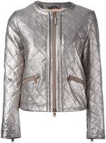 Eleventy metallic (Grey) quilted jacket