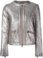 Eleventy metallic quilted jacket - women - Sheep Skin/Shearling/Polyester - 44