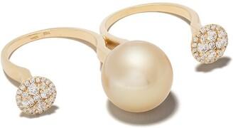 Yoko London 18kt gold Novus two-finger ring