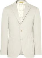 Canali Beige Kei Slim-Fit Stretch-Cotton Twill Suit Jacket