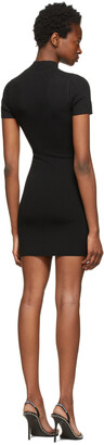 alexanderwang.t Black Logo Patch Bodycon Dress