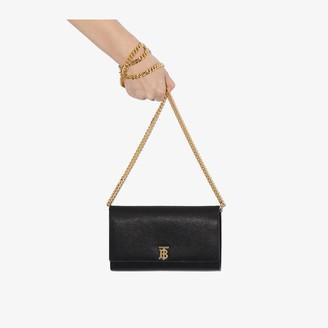 Burberry black Hannah leather shoulder bag