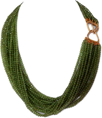 Arthur Marder Fine Jewelry Gold Over Silver Peridot Layered Necklace