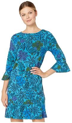 Fresh Produce Sketched Flora Kira Dress (Seaport Blue) Women's Dress