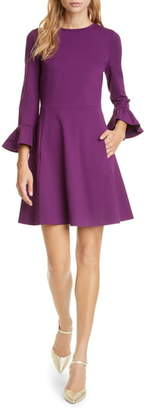 Kate Spade Bell Sleeve Ponte Fit & Flare Dress