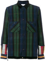Sacai plaid and striped shirt