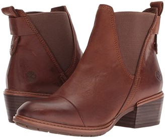 Timberland Sutherlin Bay Double Gore Chelsea (Medium Brown Full Grain) Women's Pull-on Boots