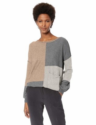 Democracy Women's Long Sleeve Color Block Drop in Pocket Sweater