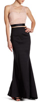 Jump Ruched Top and Flared Maxi Skirt Set