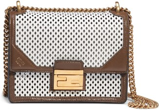 Fendi Kan U Perforated Leather Crossbody Bag